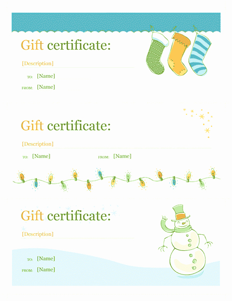 Microsoft Office Gift Tag Template Fresh Download Gift Certificate Template Free for Microsoft