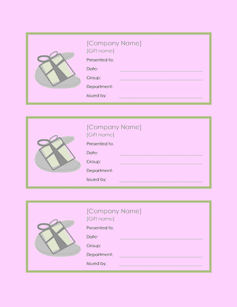 Microsoft Office Gift Tag Template Fresh Download Gift Certificate Template Word for Microsoft