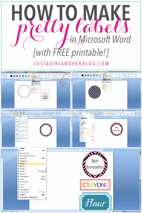Microsoft Office Gift Tag Template Lovely How to Make Pretty Labels In Microsoft Word