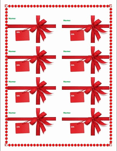 Microsoft Office Gift Tag Template New Christmas Gift Tag Template Microsoft Word – Festival