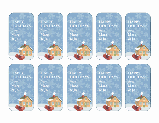 Microsoft Office Gift Tag Template New Winter Fice