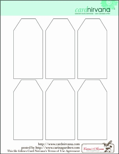 Microsoft Office Gift Tag Template Unique Blank Tag Printable Printables Gift Tags