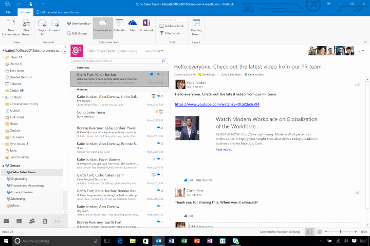 Microsoft Office Outlook Email Login Awesome Microsoft Outlook 2016 S Groups Feature Could Kill Email