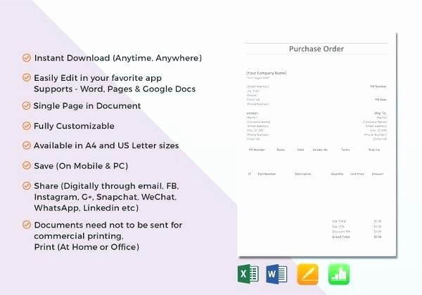 Microsoft Office Purchase order Templates Best Of Word Document Purchase order Template Simple Doc