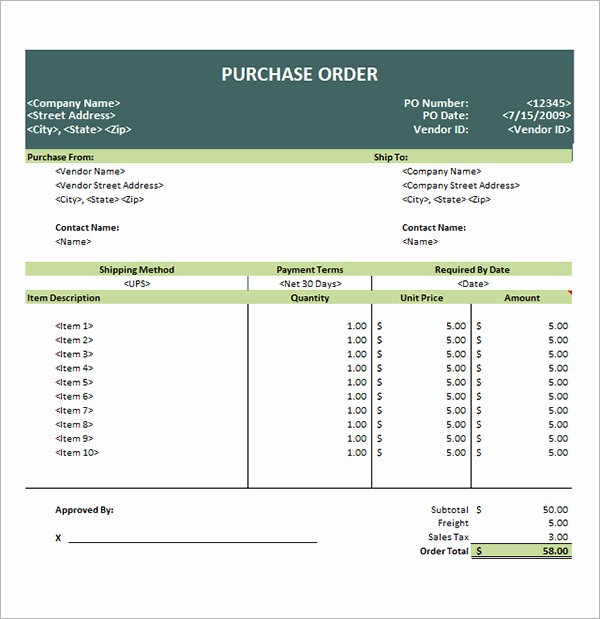 Microsoft Office Purchase order Templates Elegant Purchase order Template 10 Download Free Documents In