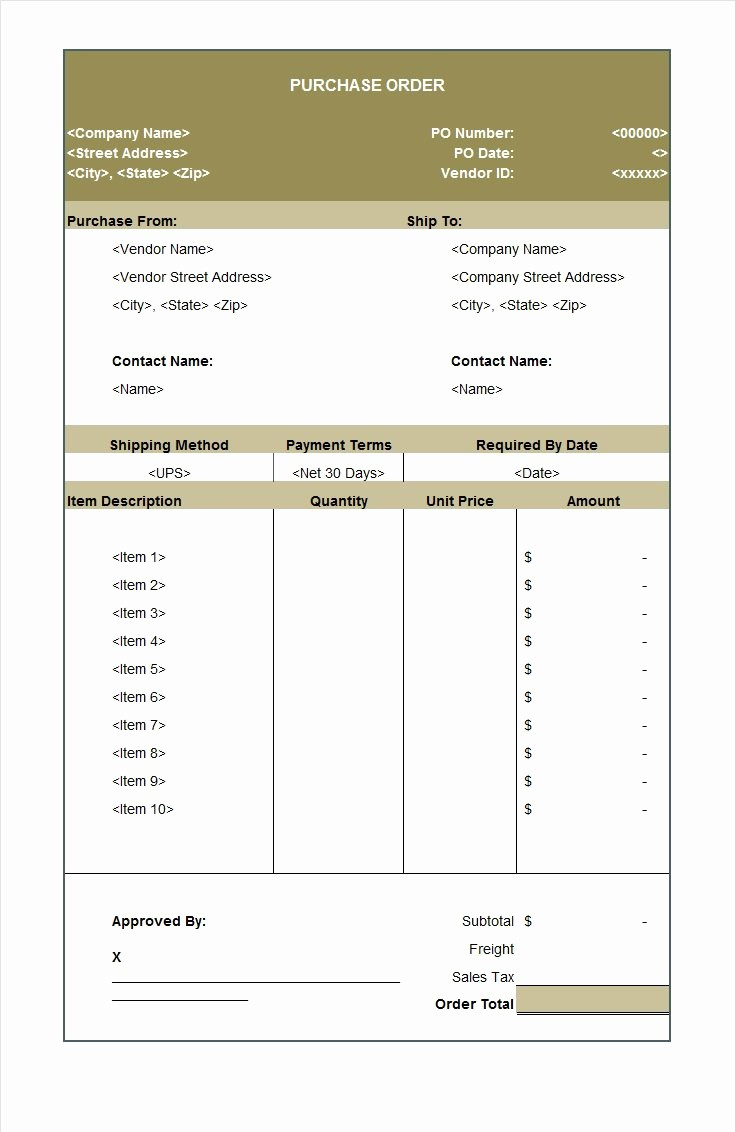 Microsoft Office Purchase order Templates Fresh 37 Free Purchase order Templates In Word & Excel