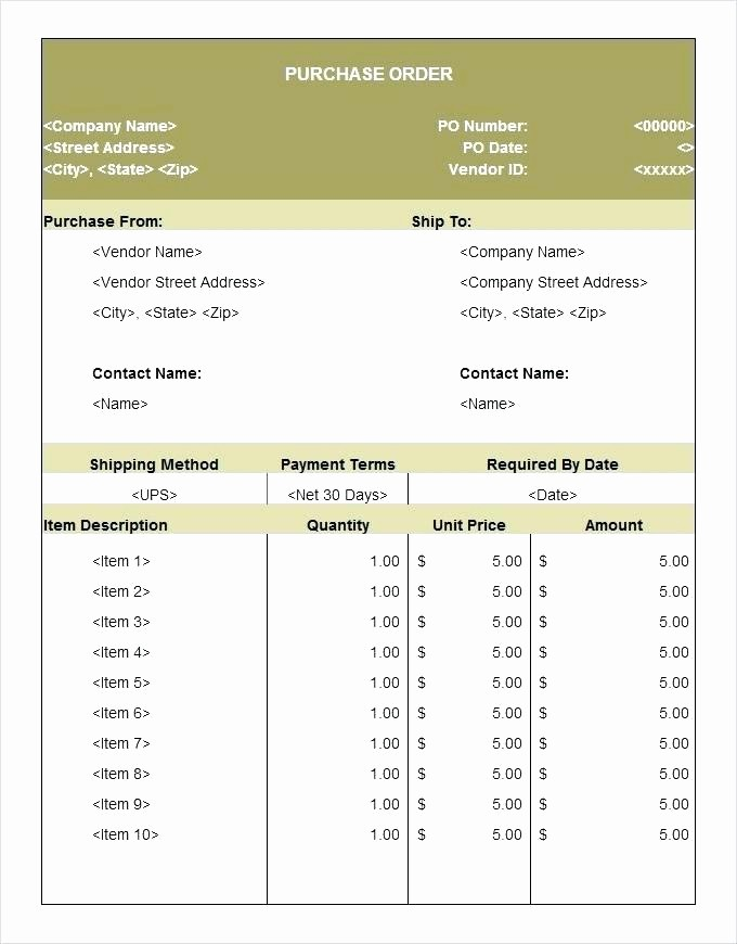 Microsoft Office Purchase order Templates Fresh Microsoft Excel Purchase order Template – Swift60kub
