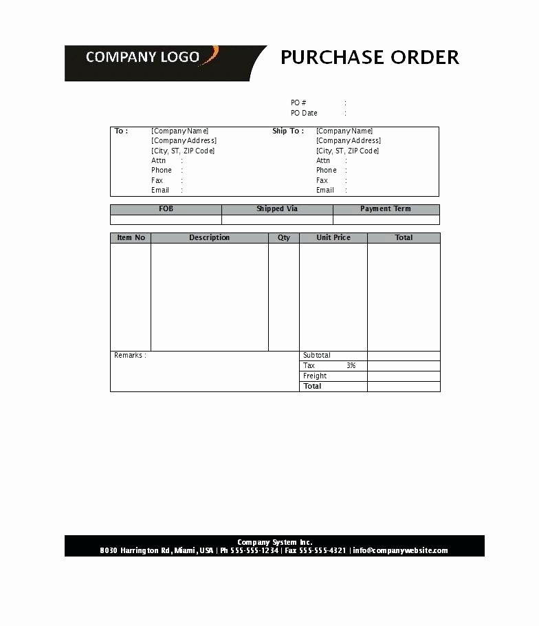 Microsoft Office Purchase order Templates Luxury Fice order form Template Stock Free Stationery Request