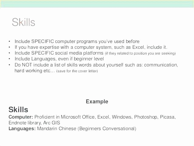 Microsoft Office Skills Resume Template Awesome Resume Skills Fice Laborer Section Proficient In