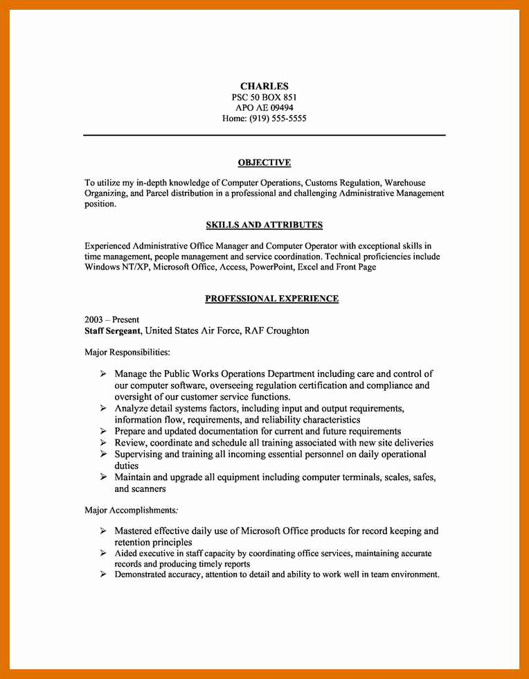 Microsoft Office Skills Resume Template Best Of 3 4 Microsoft Office Skills Resume Template