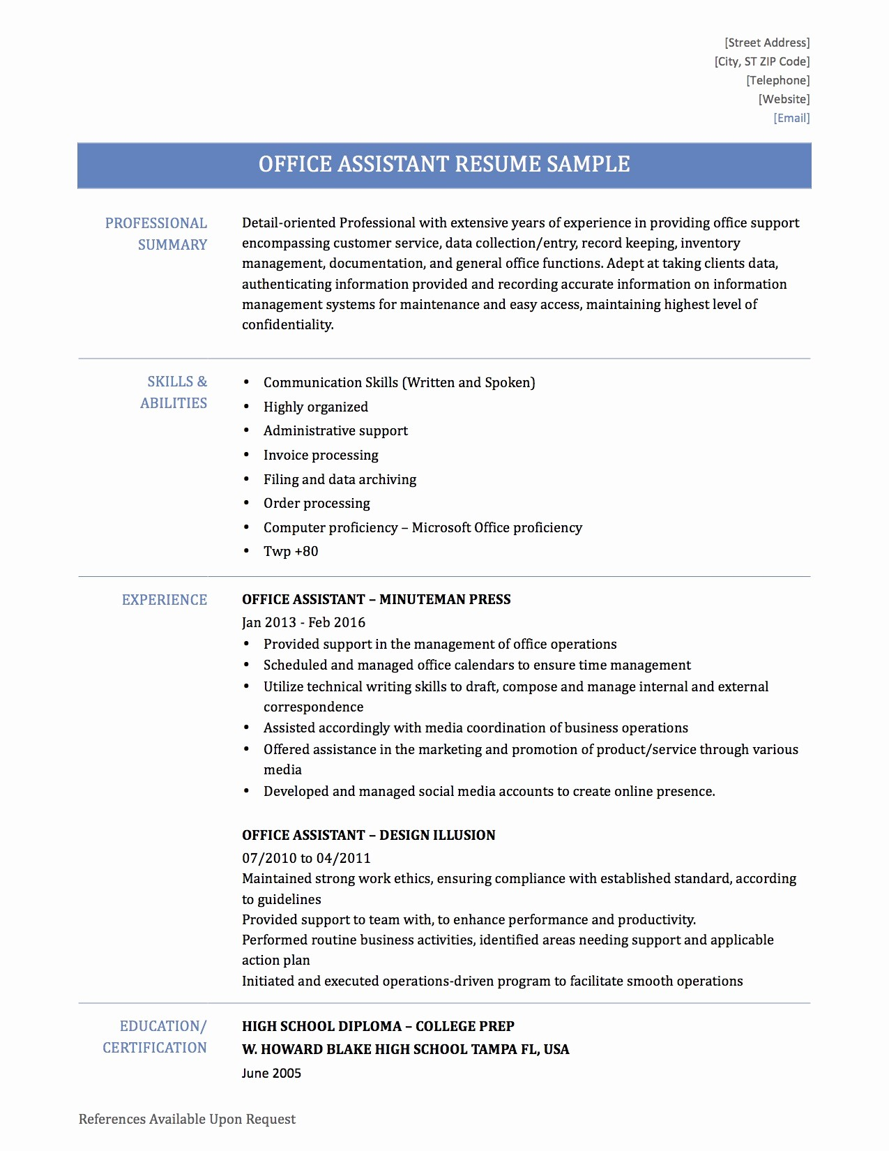 Microsoft Office Skills Resume Template Best Of Minivan Ficeml