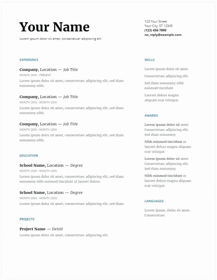 Microsoft Office Skills Resume Template Elegant Resume Microsoft – Resume Tutorial Pro