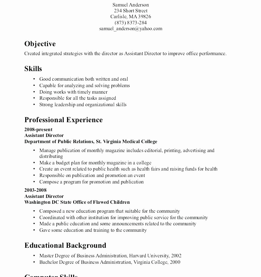 Microsoft Office Skills Resume Template Elegant Resume Ms Fice Skills for In A Examples Microsoft