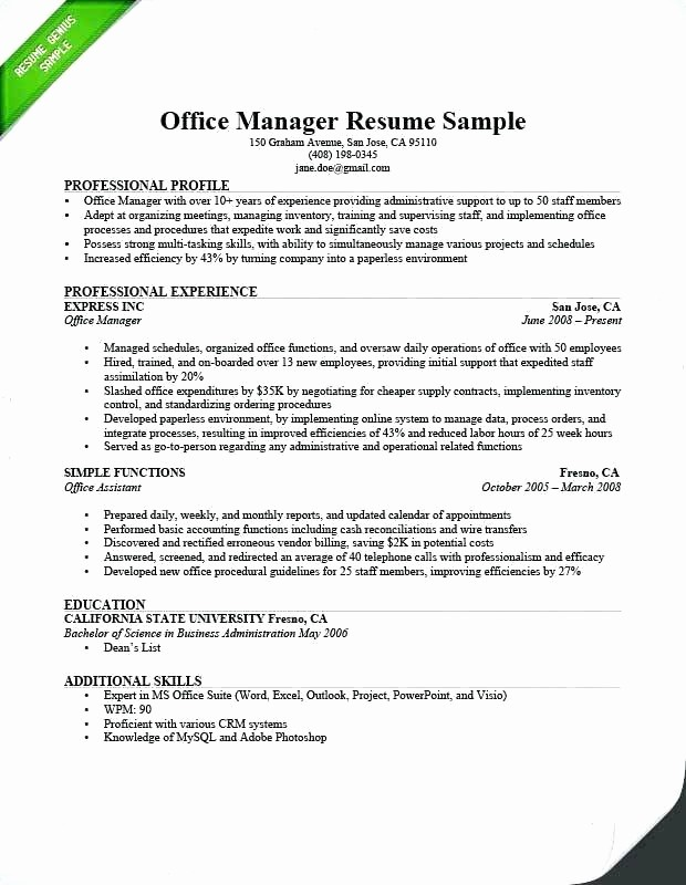 Microsoft Office Skills Resume Template Fresh Resume Proficient In Ms Fice Microsoft Account Manager