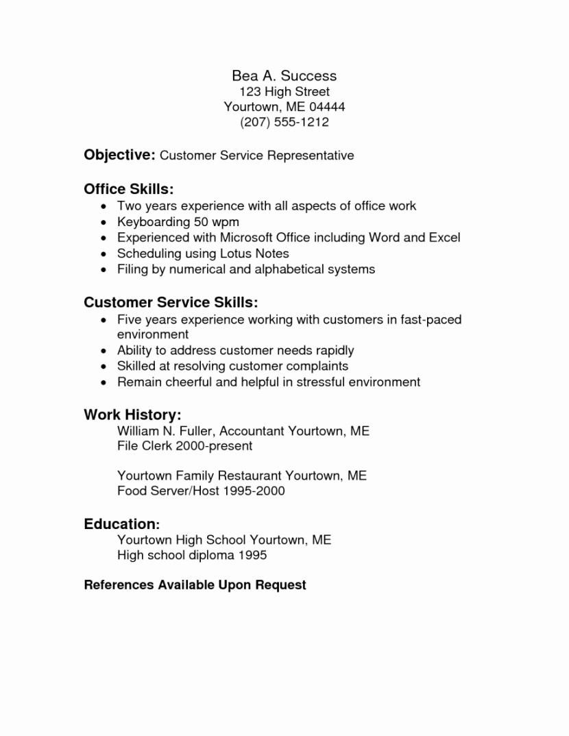 Microsoft Office Skills Resume Template Luxury List Microsoft Fice Skills Resume