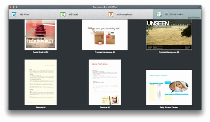 Microsoft Office Templates for Mac Awesome Templates for Ms Fice Für Mac Download