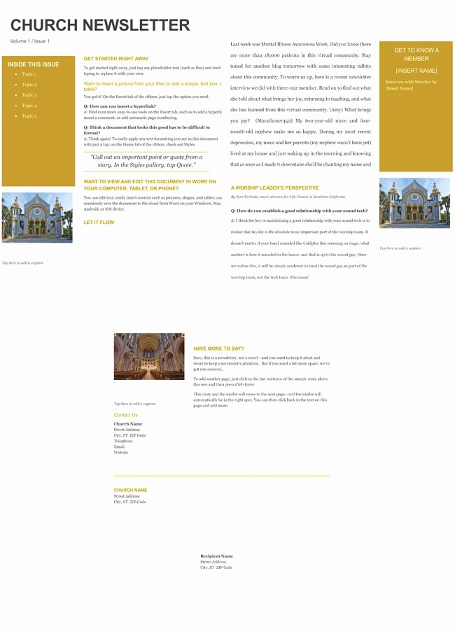 Microsoft Office Templates for Publisher Elegant Free Church Newsletter Templates Editable In Microsoft Word