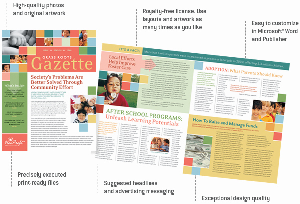 Microsoft Office Templates for Publisher Elegant Layoutready