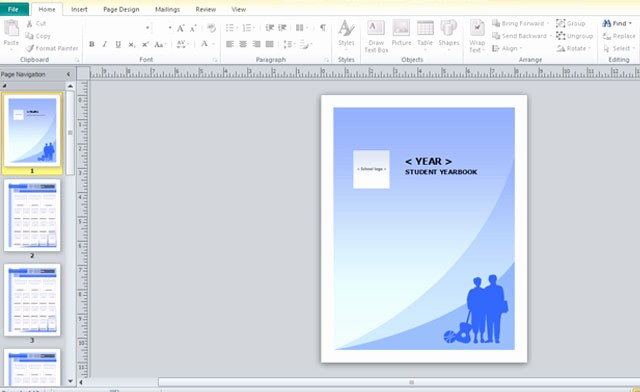 Microsoft Office Templates for Publisher Elegant Yearbook Template for Microsoft Publisher