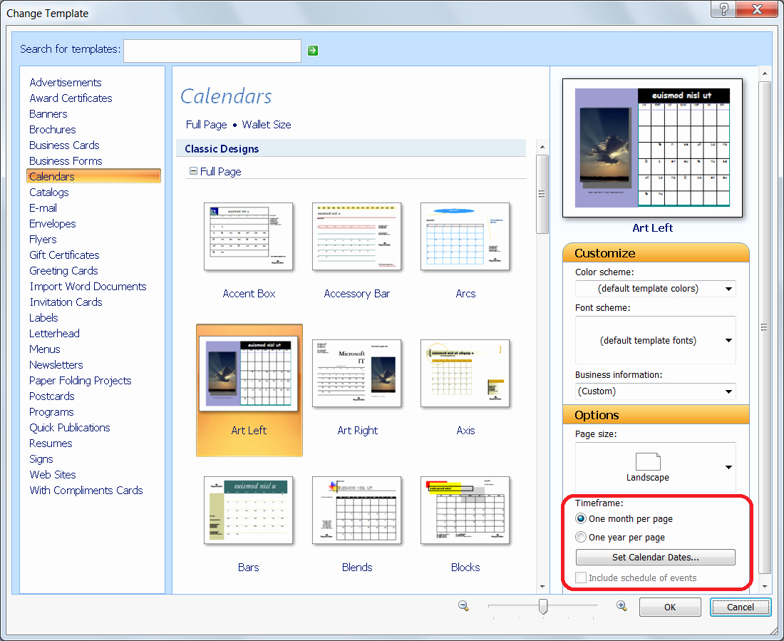 Microsoft Office Templates for Publisher Fresh Personalize A Calendar for New Year In Publisher