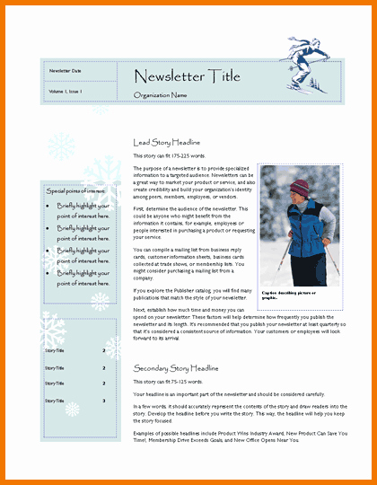 Microsoft Office Templates for Publisher Inspirational New Microsoft Publisher Newsletter Templates Free