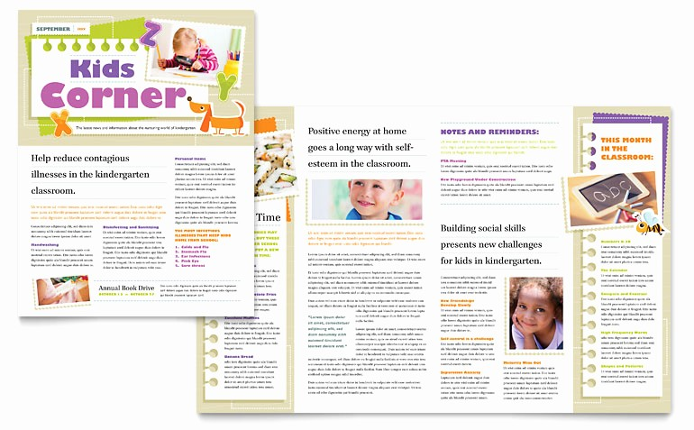 Microsoft Office Templates for Publisher New Kindergarten Newsletter Template Word & Publisher