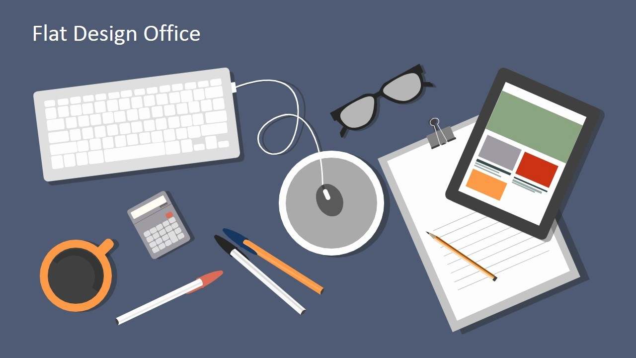 Microsoft Office Templates Power Point Awesome Flat Design Fice Powerpoint Templates Slidemodel