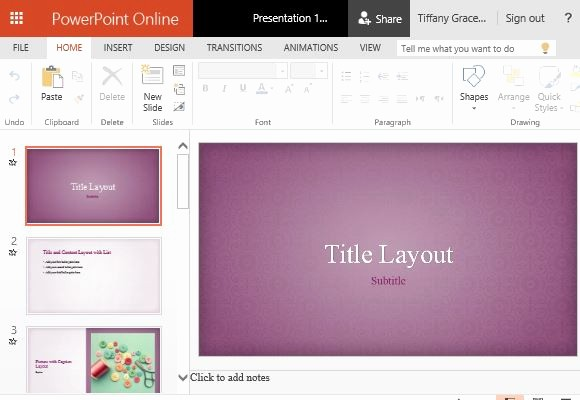 Microsoft Office Templates Power Point Awesome Pink Floral Powerpoint Template