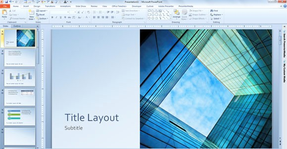 Microsoft Office Templates Power Point Beautiful Free Glass Cube Marketing Powerpoint 2013 Template