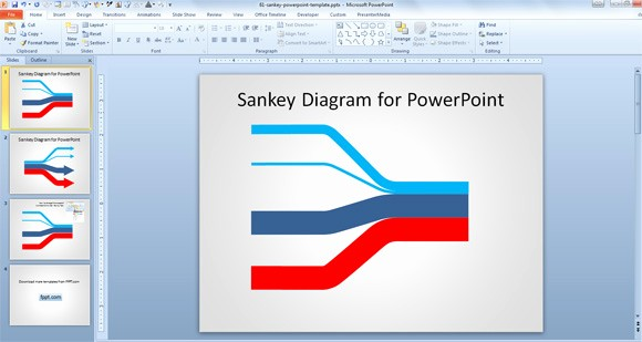 Microsoft Office Templates Power Point Best Of Create Sankey Diagrams In Powerpoint with Free Template