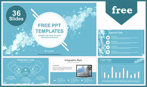 Microsoft Office Templates Power Point New Water Colored Splashes Powerpoint Template