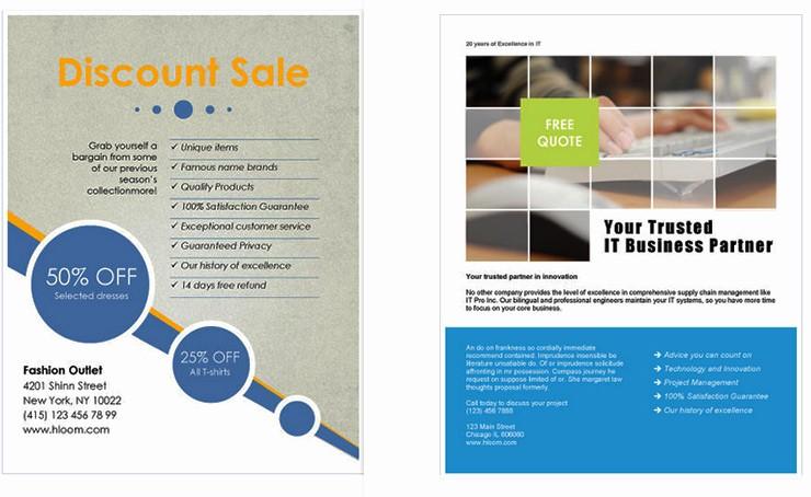 Microsoft Office Word Flyer Templates Elegant Free Business Flyer Templates for Microsoft Word Design A