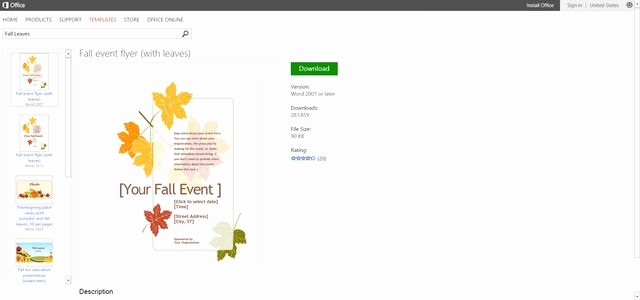 Microsoft Office Word Flyer Templates New Free Autumn themed Printables or Templates for Microsoft