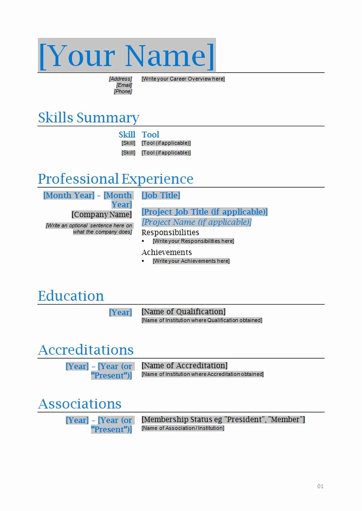 Microsoft Office Word Resume Template Best Of 286 Best Images About Resume On Pinterest