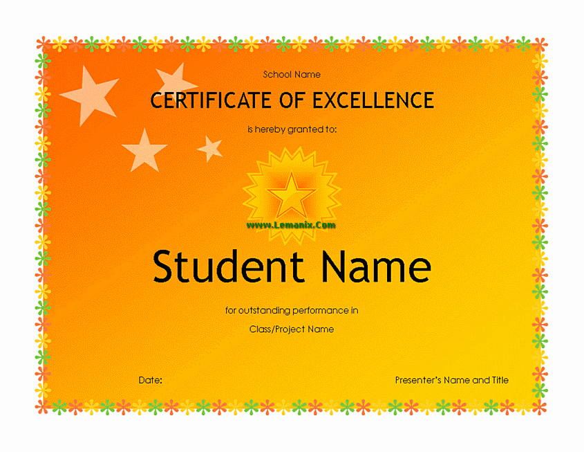Microsoft Publisher Award Certificate Templates Awesome High School Student Award Microsoft Publisher Templates