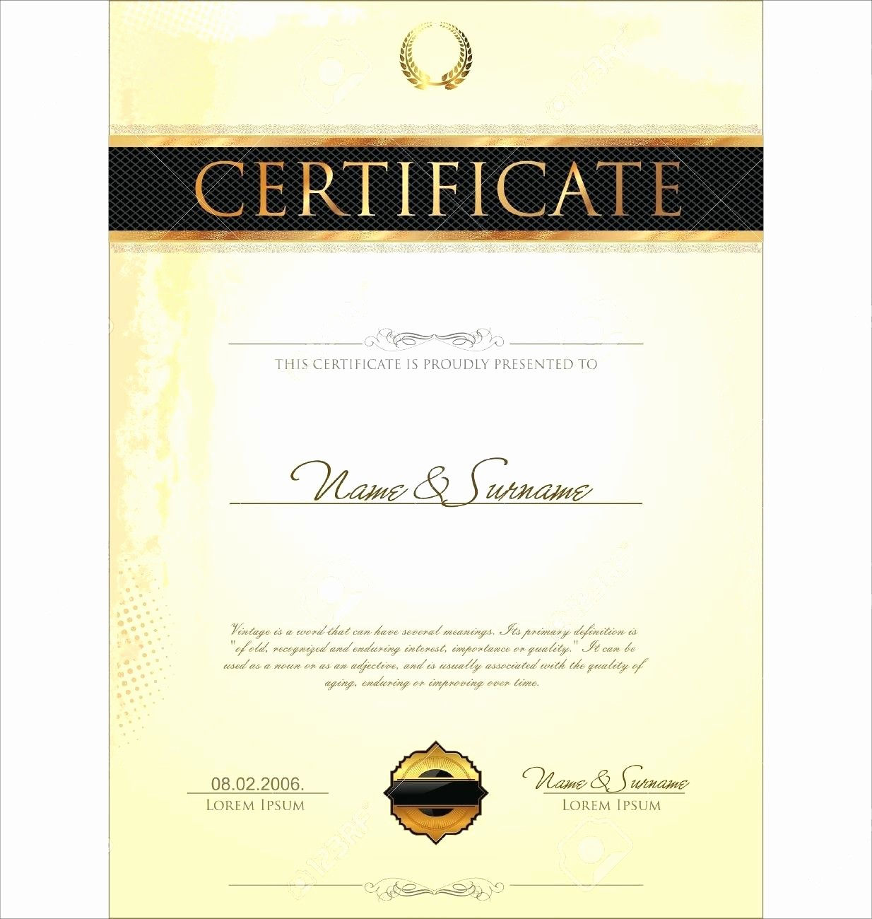 Microsoft Publisher Award Certificate Templates Beautiful Template Certificate Template for Publisher
