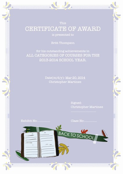 Microsoft Publisher Award Certificate Templates Best Of Certificates Templates & Sample – Design Excellent