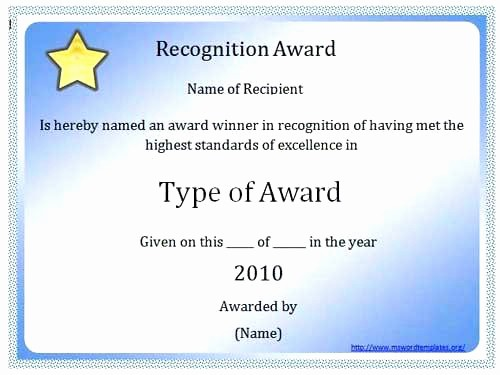 Microsoft Publisher Award Certificate Templates Elegant Recognition Award Template – Template Gbooks
