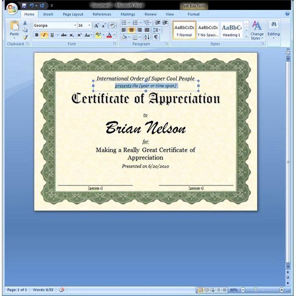 Microsoft Publisher Award Certificate Templates Fresh Certificate Of Appreciation Template In Word