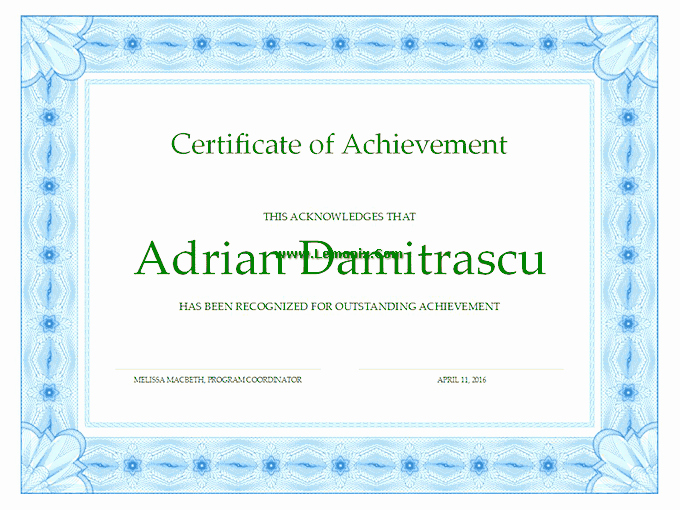 Microsoft Publisher Award Certificate Templates Luxury Achievement Fice Templates for Ms Fice software