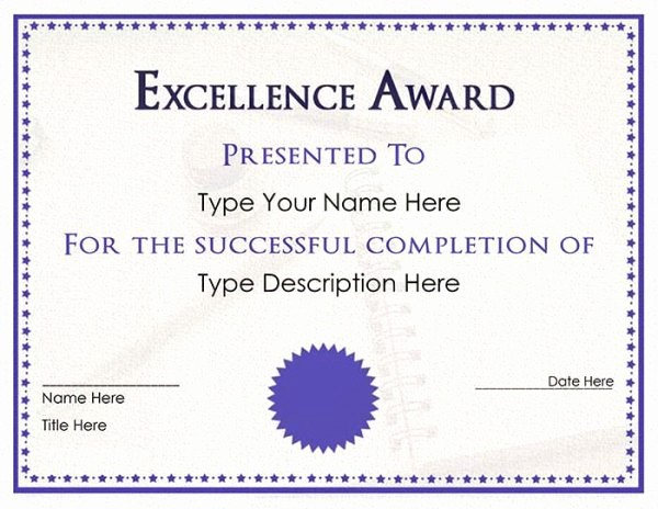 Microsoft Publisher Award Certificate Templates New Purple Certificate Template Free Word Doc