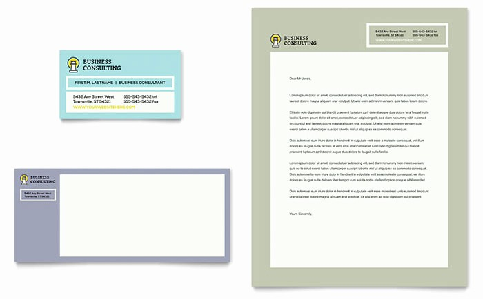 Microsoft Publisher Business Card Templates Awesome Business Consultants Business Card & Letterhead Template