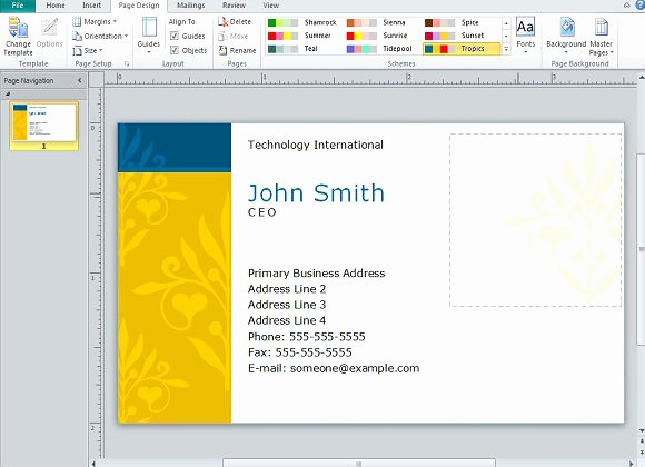 Microsoft Publisher Business Card Templates Best Of Creating Business Cards In Microsoft Publisher