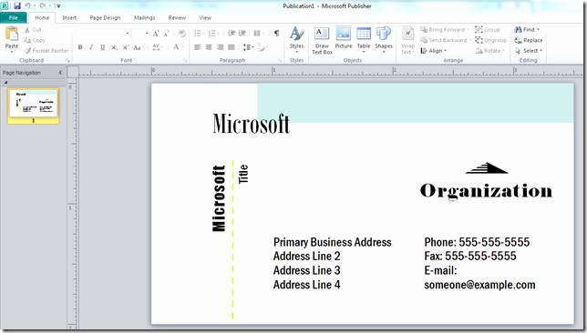 Microsoft Publisher Business Cards Templates Awesome How to Make A Business Card with Microsoft Publisher