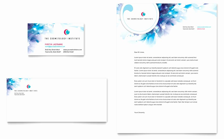 Microsoft Publisher Business Cards Templates Beautiful Cosmetology Business Card & Letterhead Template Word