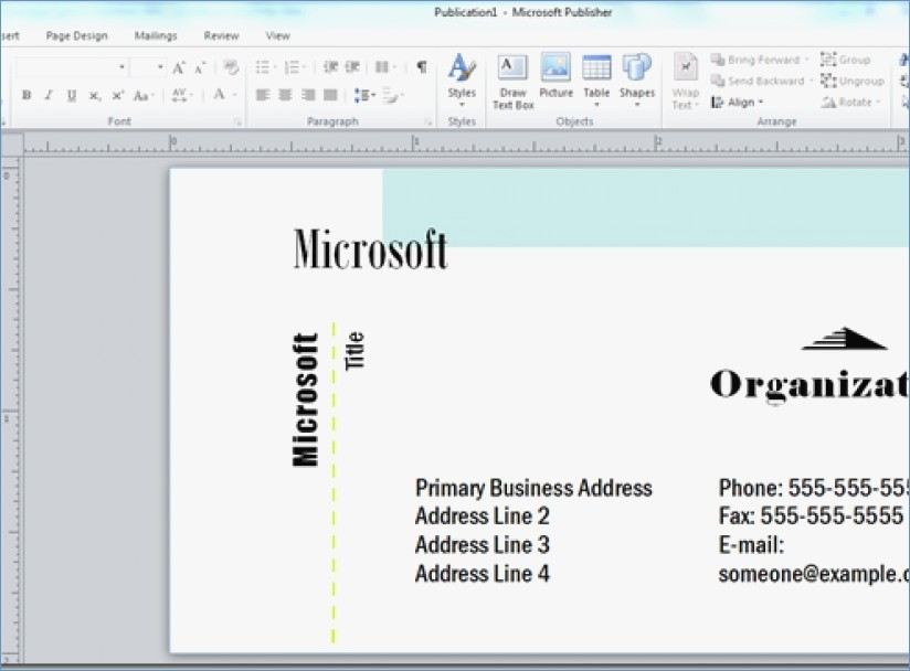 Microsoft Publisher Business Cards Templates Beautiful Microsoft Publisher Business Card Templates Aacisfo