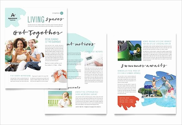 Microsoft Publisher Template Free Download Awesome 22 Microsoft Newsletter Templates Free Word Publisher