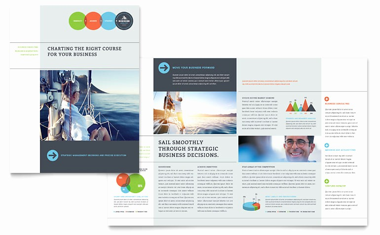 Microsoft Publisher Template Free Download Awesome Business Analyst Brochure Template Word & Publisher