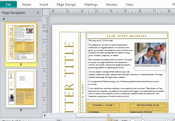 Microsoft Publisher Template Free Download Fresh Free Newsletter Templates