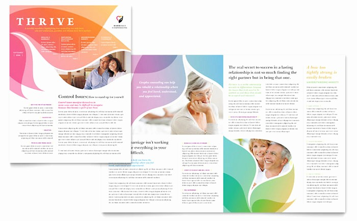 Microsoft Publisher Template Free Download New Marriage Counseling Newsletter Template Design